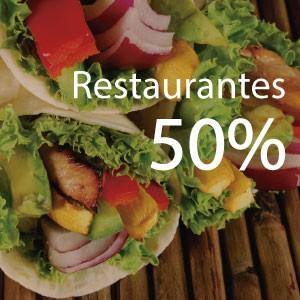 50% de ahorro en restaurantes