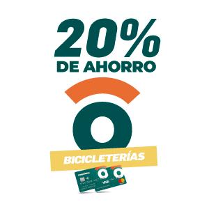20% de ahorro en bicicleterías