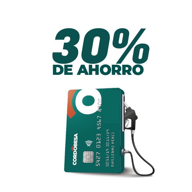30% de ahorro en combustibles