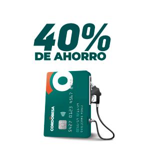 40% de ahorro en combustibles