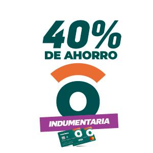 40% de ahorro en indumentaria