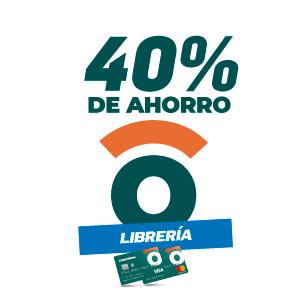 40% de ahorro en librerías