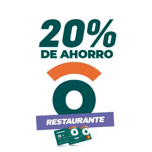 20% de ahorro en restaurantes
