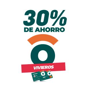 30% de ahorro en viveros y florerías