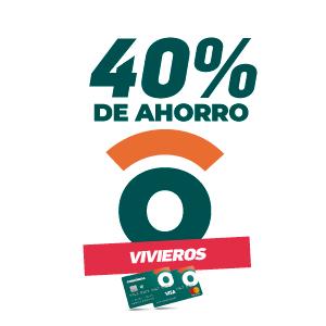 40% de ahorro en viveros y florerías