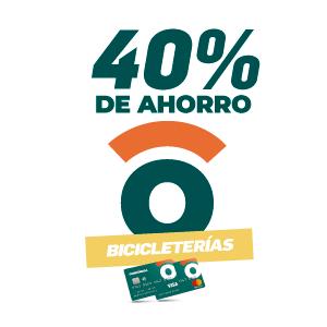 40% de ahorro en bicicleterías