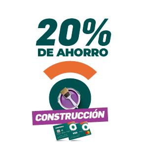 20% de ahorro en construccion