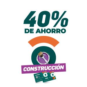 40% de ahorro en construccion