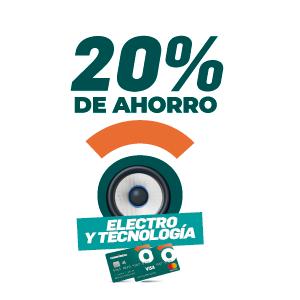 20% de ahorro en electronicos