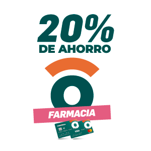 20% de ahorro en farmacias
