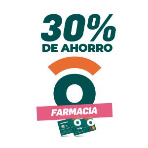 30% de ahorro en farmacias
