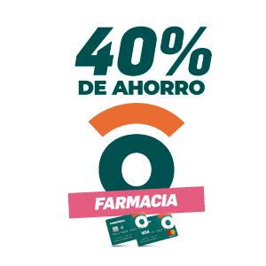40% de ahorro en farmacias