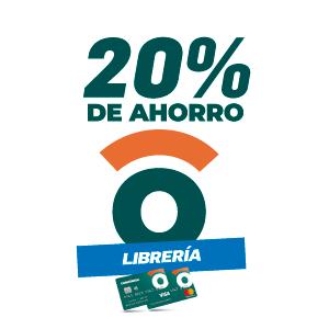 20% de ahorro en librerias