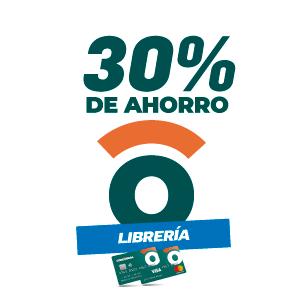 30% de ahorro en librerias