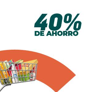 40% de ahorro en supermercados