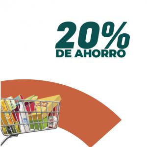 20% de ahorro en supermercados