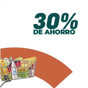 30% de ahorro en supermercados